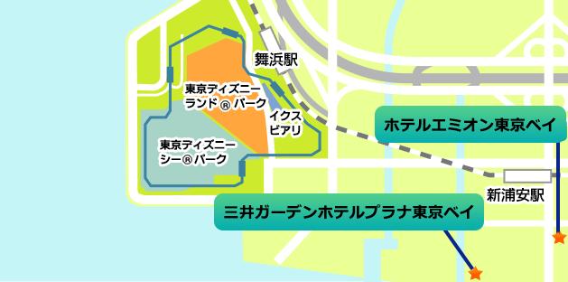 パートナーホテル地図
