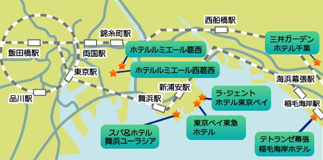 近隣ホテル地図